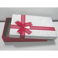 Подарочная упаковка большая Бордовый бант 0830